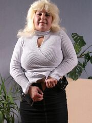 Fatty MILF Takes Off her Office Clothes